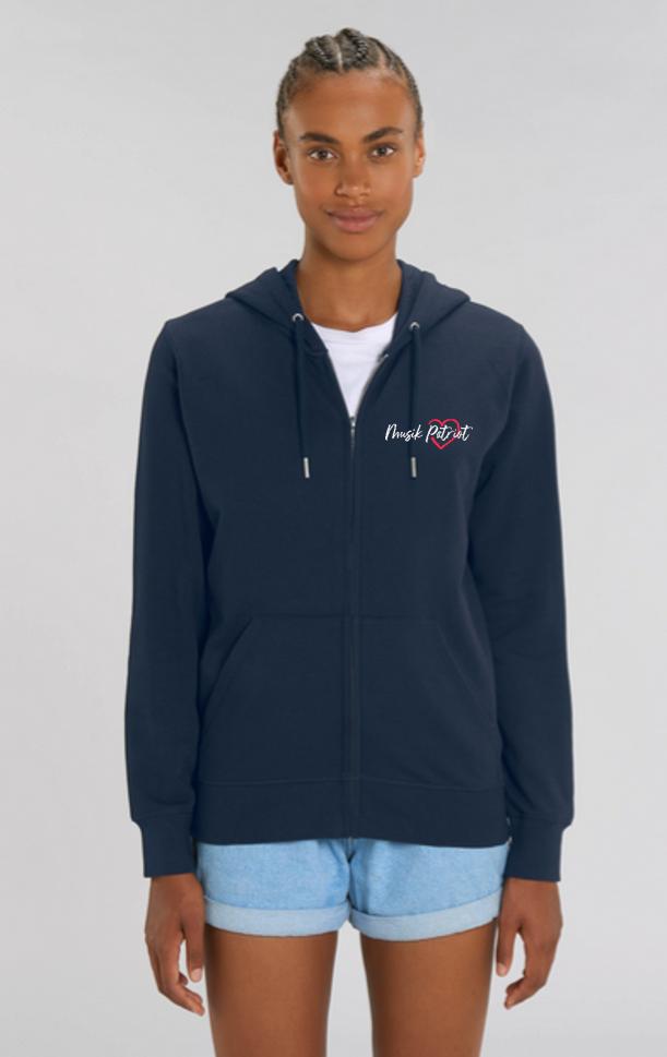 MusikPatriot Zip-Jacke Classic mit Logo (High Quality)