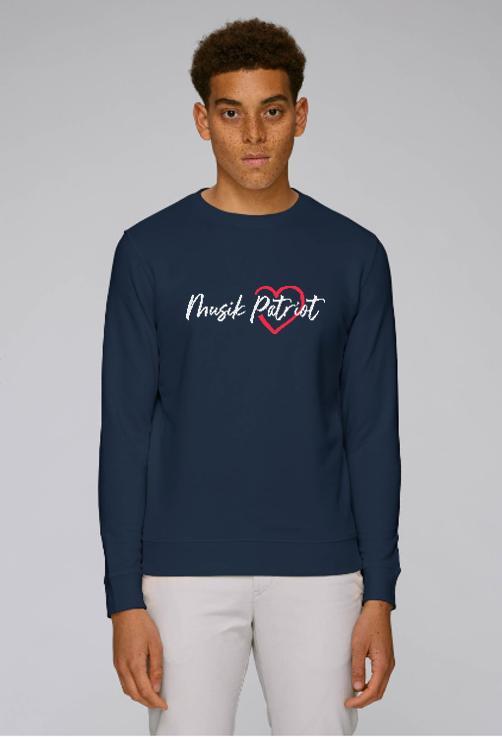 MusikPatriot Sweatshirt Classic mit Logo (High Quality)