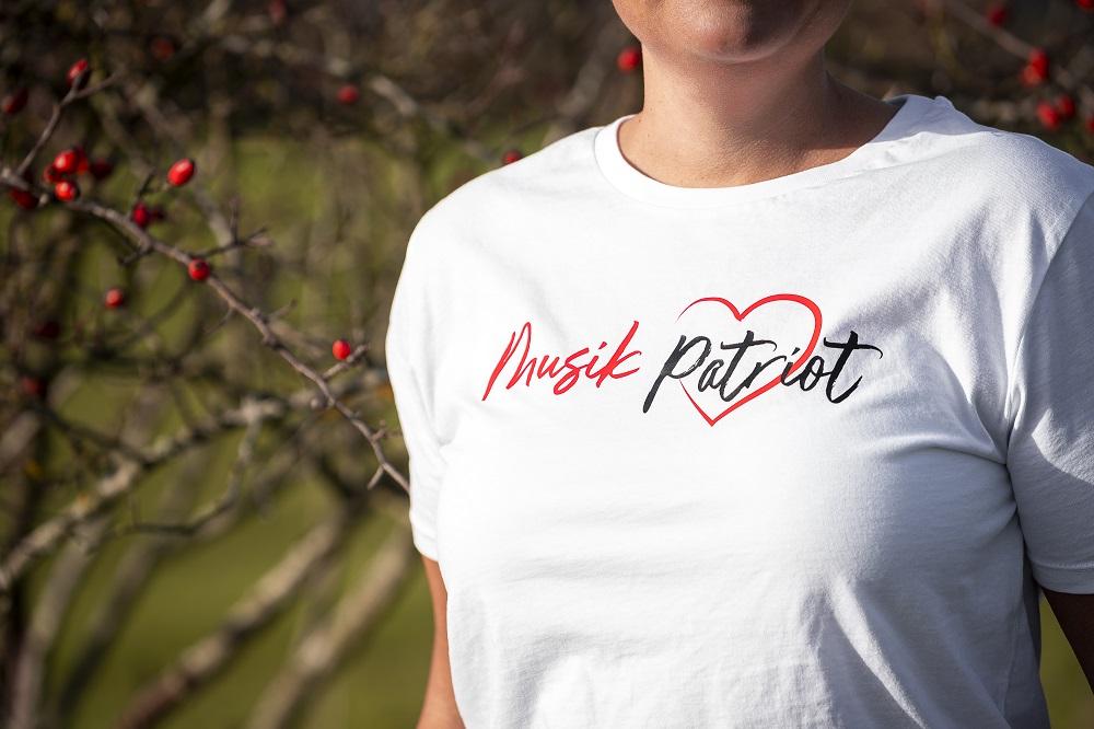 MusikPatriot T-Shirt Classic mit Logo (High Quality)