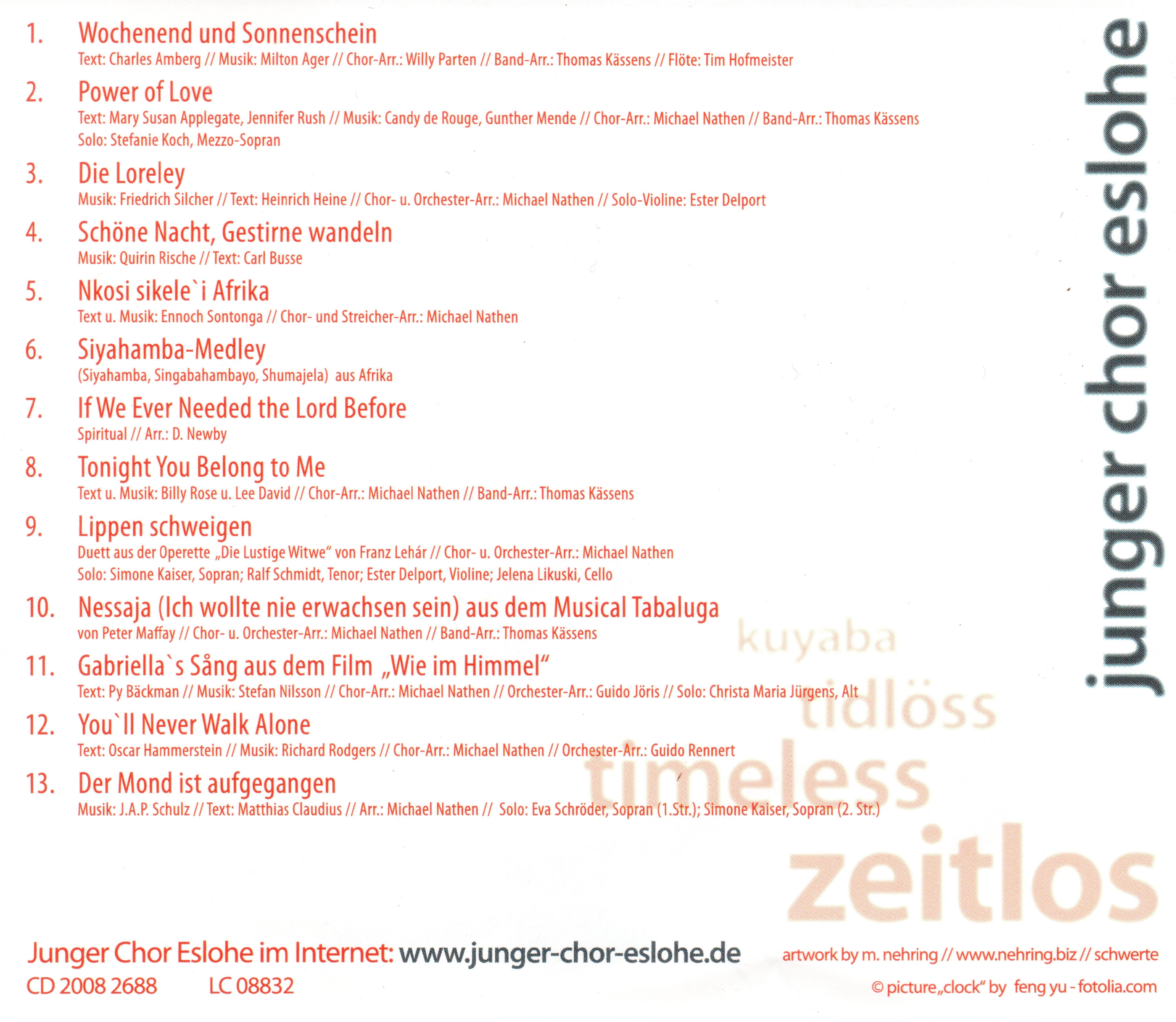 Timeless - Musik des Jungen Chor Eslohe